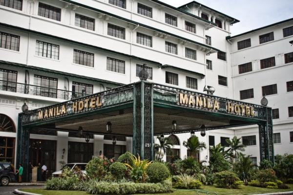 Manila Hotel entrence